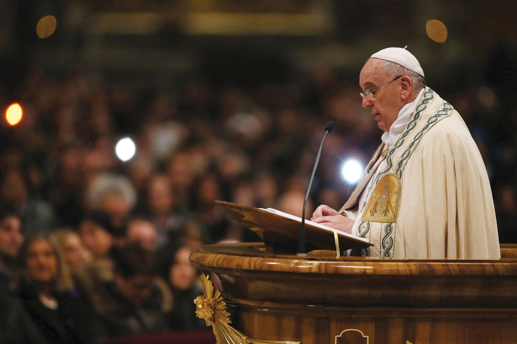 On December 31, during the First Vespers for the Solemnity of Mary The Mother of God, Pope Francis gave thanks for the year just past and sang a Te Deum in gratitude.