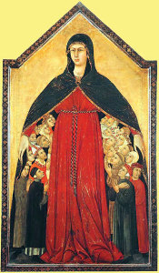La Madonna Della Misconcordia (The Madonna of Mercy) by Simone Martini.
