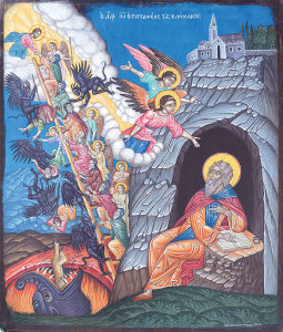 St. John Climacus wrote the 'Ladder of Divine Ascent' whereby each step describe a virtue, and together they describe the progress of a person's spiritual struggle, which leads to Perfection.