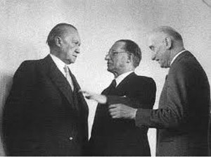 Three Catholic Statesmen - Adenauer, De Gasperi and Schumann - were among the chief founders of the united Europe.