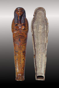 The anthropid Coffin of Butehamon, an Egyptian royal scribe during the 21st century.
