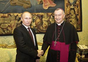 Parolin with Russian President Vladimir Putin.