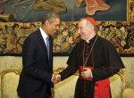 Parolin with US President Barack Obama.