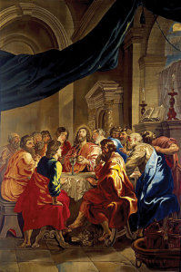 apestry of The Last Supper designed by Rubens, on loan from the Diocesan Museum in Ancona, Italy