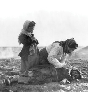 The deportation of the Armenians.