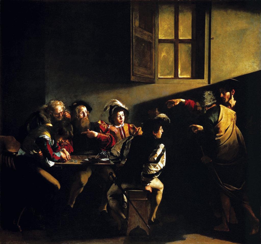 Caravaggio_-_La_vocazione_di_San_Matteo-x