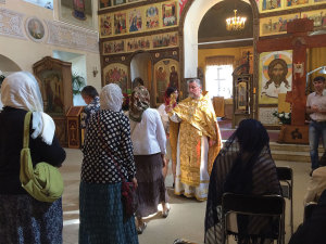 Foundation Pilgrimage, July 2014: During our Private Pilgrimage, we experienced liturgies in both Russian Orthodox and Catholic.
