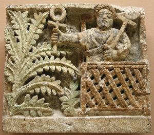 5th-century liturgical Coptic relief