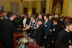 December 2014: Guests enjoyed a reception with special beer crafted by the Monks of Norcia, Italy.