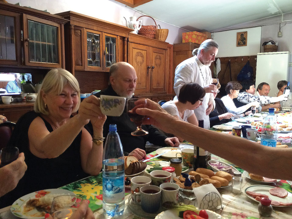 Foundation Pilgrimage, July 2014: Homemade Russian lunch was delicious.