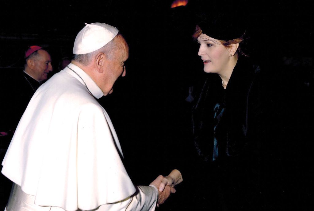 Ambassador Karaˇci΄c meets Pope Francis, who will travel to her country on June 6.