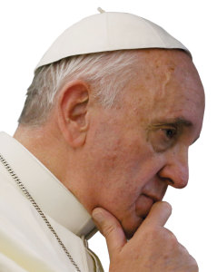 Pope Francis in deep thought.