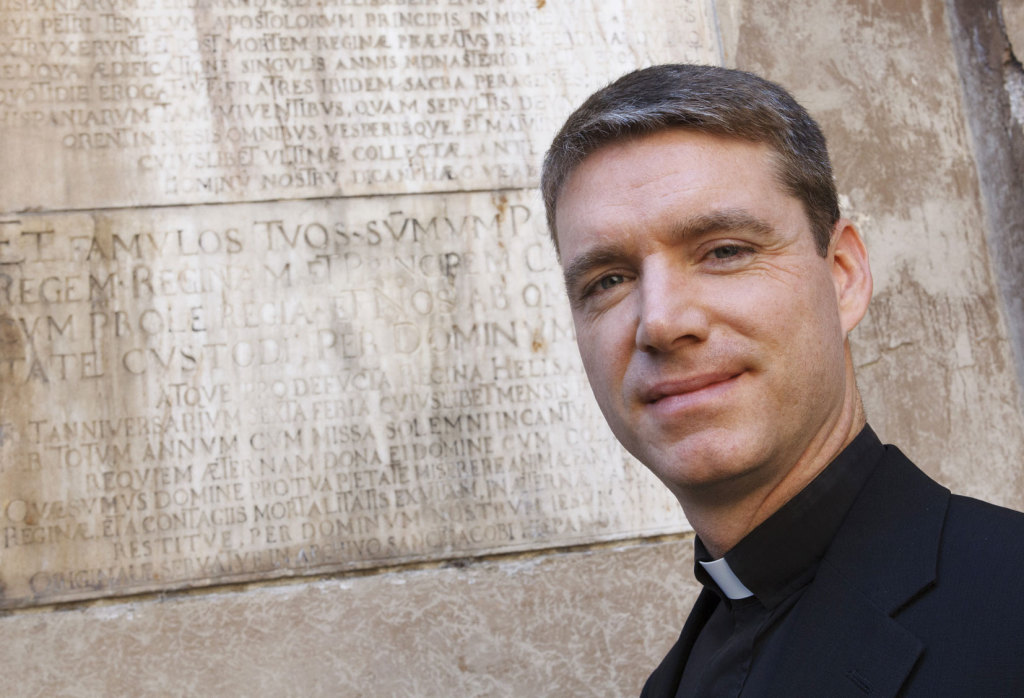 U.S. Father Daniel Gallagher is pictured in Rome. Father Gallagher is a Latin expert who works in the Vatican Secretariat of State.