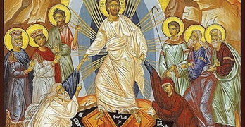 """Resurrection Icon of Jesus Christ— """"Descensus Christi ad Inferos,"""" or the descent of Christ into hell"""