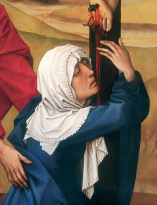Mary and John at the foot of the cross,  by Rogier van der Weyden