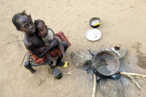 Poverty in Sudan. A much too common reality.