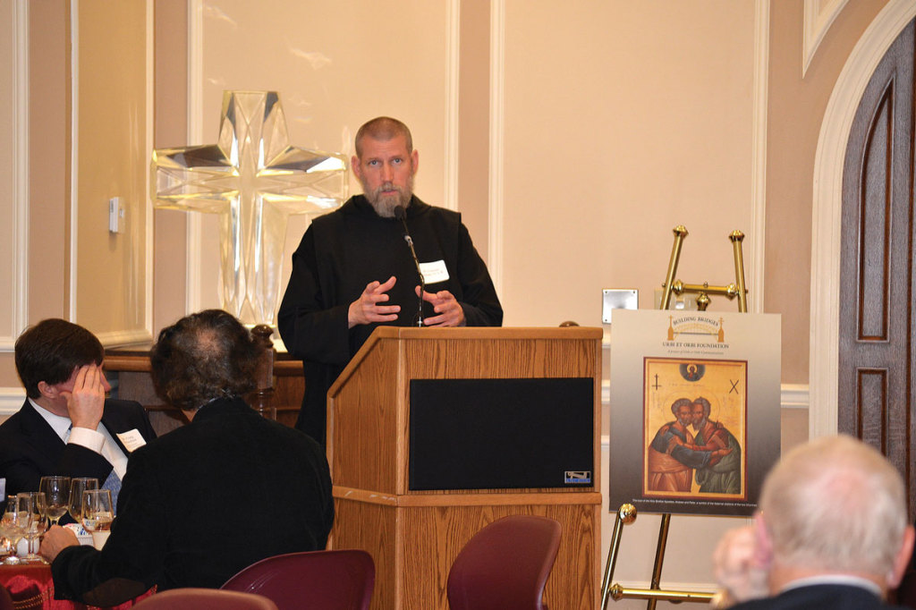December 2014: Fr. Cassian Folsom speaks to us at the Christmas Breakfast for Christian Unity.