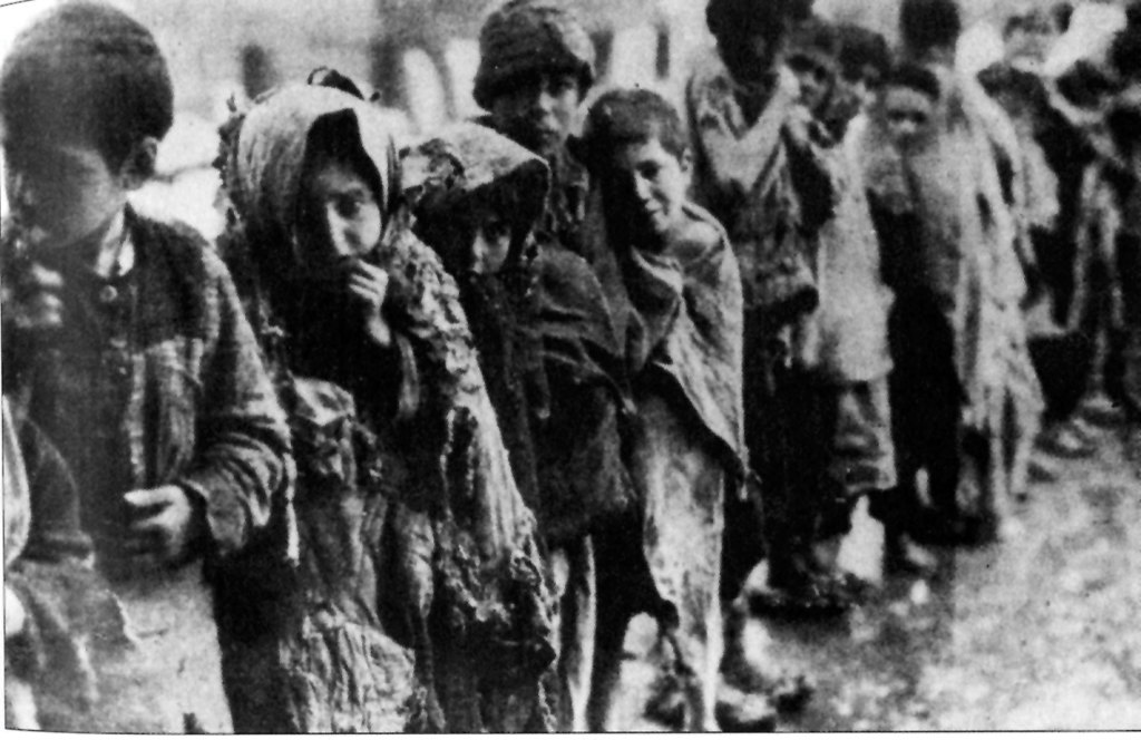 Scholars estimate the number of Armenians who died in 1915 at about 1.5 million. Deportation was the cause of many of the deaths — men, women and children sent to an unknown destination were abandoned to their own strength and left to die of hunger, exposure and exhaustion.