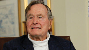 US President George H.W. Bush.