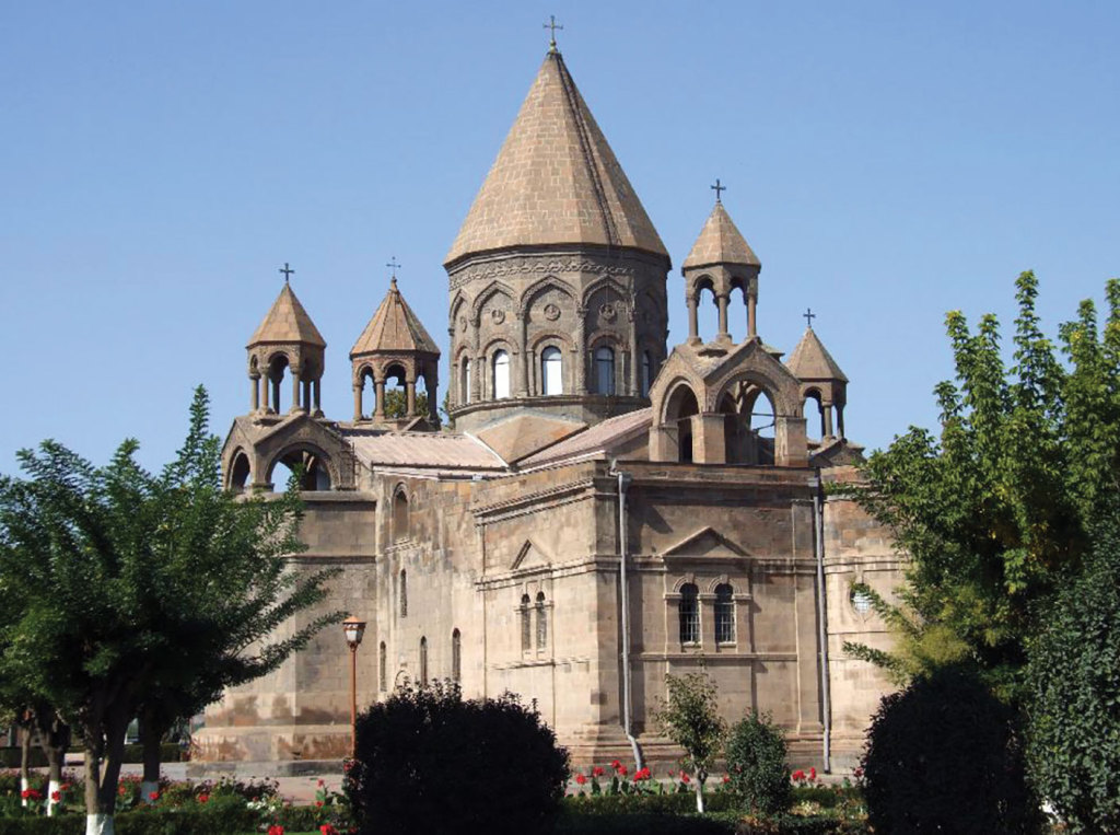 Etchmiadzin Cathedral is the mother church of the Armenian Apostolic Church, located in Vagharshapat, Armenia, and is considered the oldest cathedral in the world.