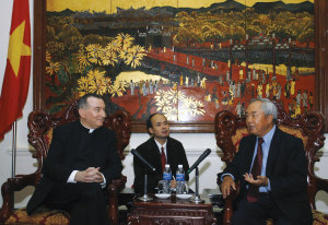 Parolin often makes trips to countries to bolster relations with the local Churches.