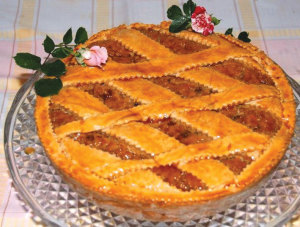 Pastiera, a typical Neapolitan speciality.