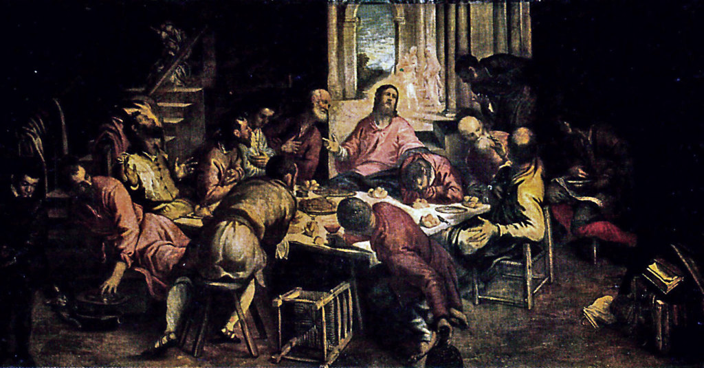 The Last Supper by Tintoretto, on loan from the Church of San Trovaso in Venice.