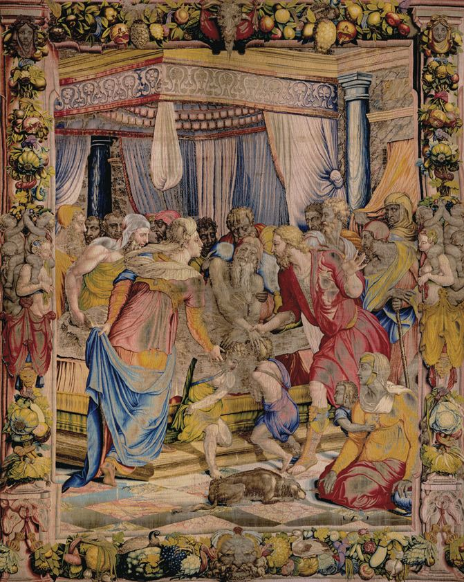 Jacob blesses Ephraim and Manasseh, Joseph's children, and gives them  a large piece of his property in Canaan