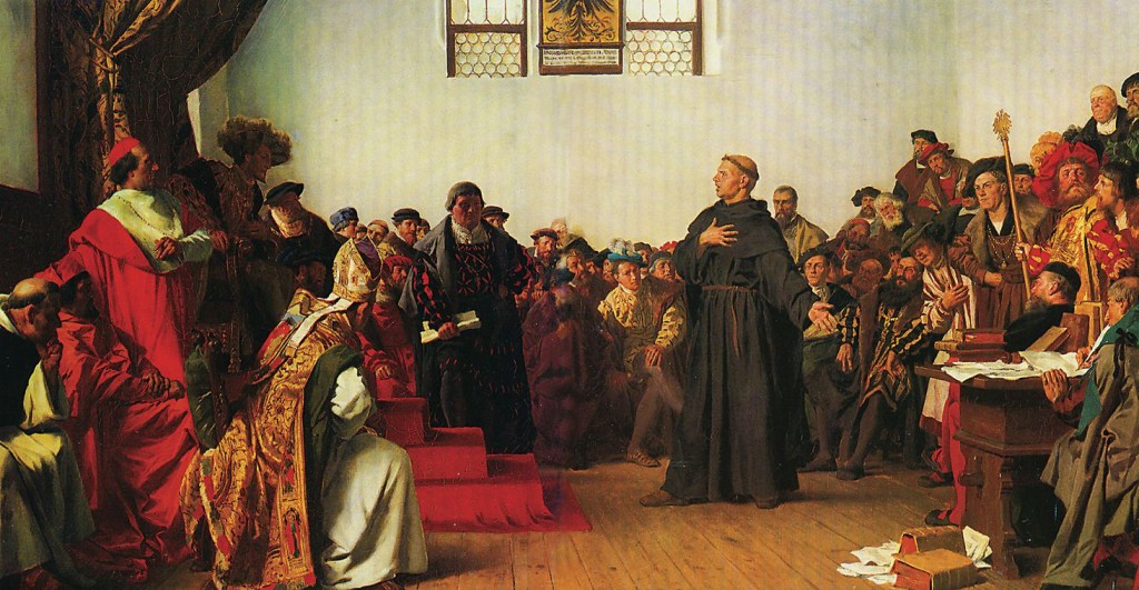 Luther at the Diet of Worms in 1877 painting by Anton von Werne