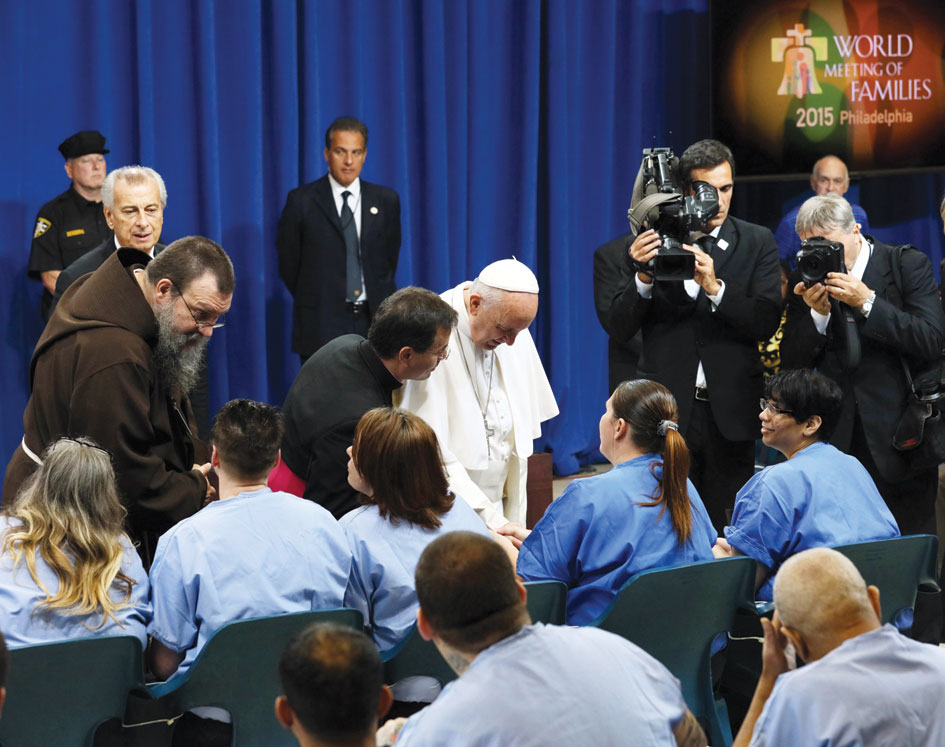 On Sunday, September 27, Philadelphia, Pope Francis visited detainees at Curran-Fromhold Correctional Facility. He met and spoke with each one individually