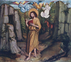 John the Baptist in the Desert by the Master of Bern, c. 1495, now in the Kunsthaus in Zurich