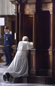 March 13, 2015 in St. Peter's — Pope Francis goes to confession (Grzegorz Galazka)