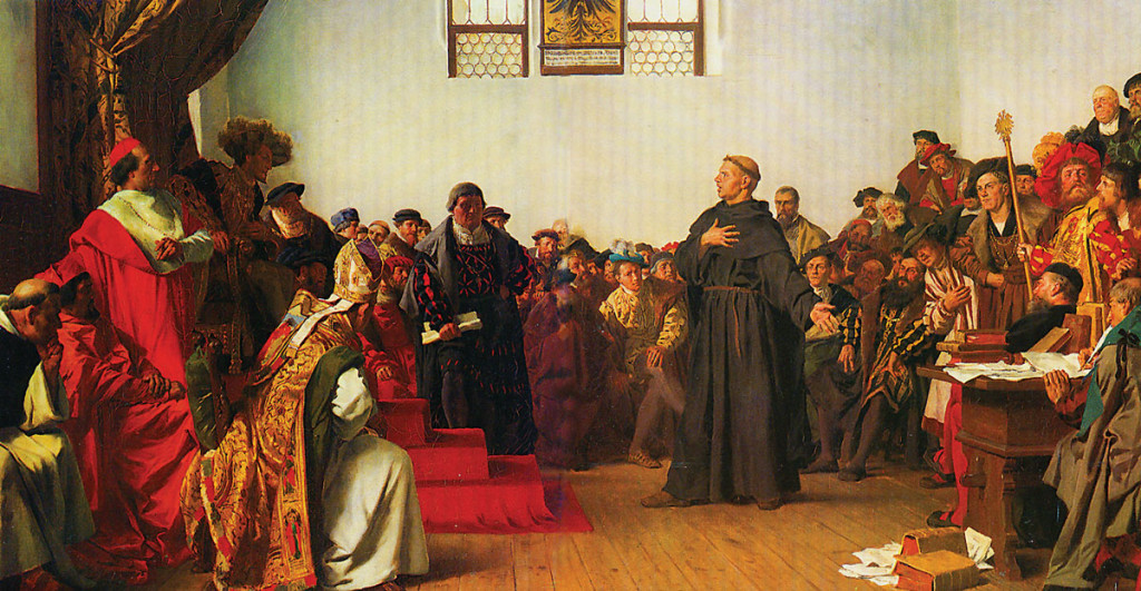 Luther at the Diet of Worms, painted by Anton von Werner, 1877