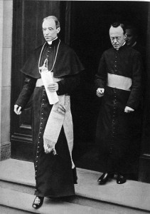 The future Pope Pius XII was the Pope's Nuncio to Germany in the 1920s. Here, Archbishop Eugenio Pacelli (the future Pope) and his secretary, Father Leiber, in 1929