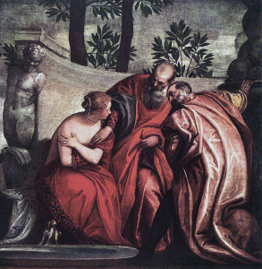 Susanna and the Two Elders, by Paolo Veronese, in the Louvre in Paris