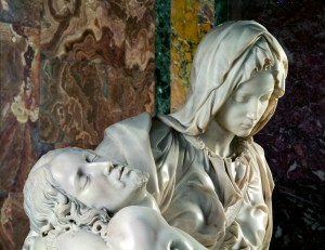 """The """"Pietà"""" of Michelangelo in St. Peter's Basilica"""