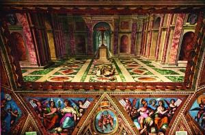sala costantino vaticano particolare