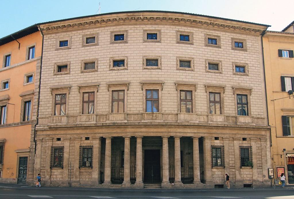 The facade of Rome's Palazzo Massimo