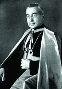 Monsignor Alois Hudal, the rector of the German national church of Santa Maria dell-Anima (St. Mary of the Soul) in Rome
