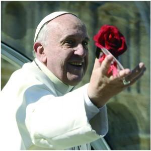 Città del Vaticano 14 Febbraio 2014. Festa di San Valentino. Papa Francesco riceve in udienza in Piazza San Pietro le coppie di fidanzati.
