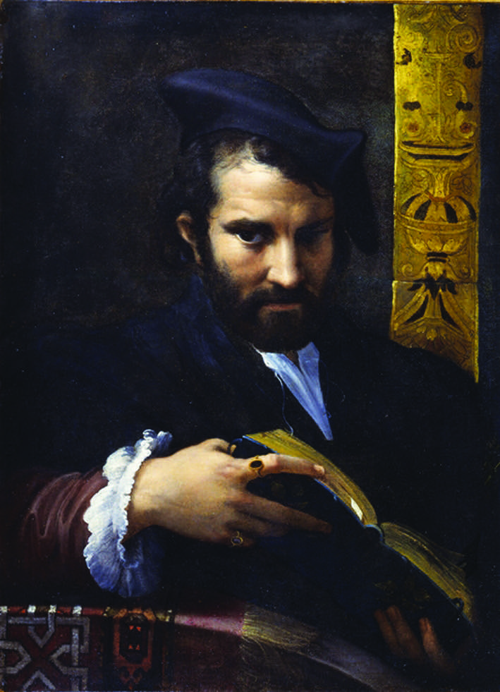 Parmigianino's portrait of %22A Man with a Book%22in the York Art Gallery
