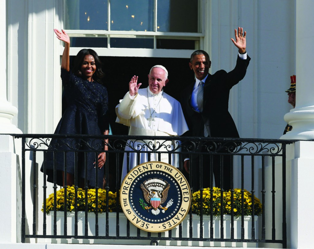 23/09/2015 Washington, United States of America. Apostolic journey of Pope Francis to the United States of America. Welcoming ceremony for Pope Francis at the South Lawn of the White House.