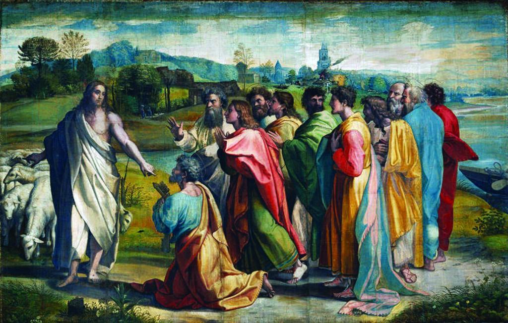 raffaello pastore apostoli missione chiavi