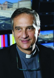 Msgr. Dario Vigano, director of the Vatican Television Center, will head the new Secretariat for Communications, whose aim is to coordinate and streamline the Holy See's multiple communications outlets. He is pictured in a 2013 photo. (CNS photo/Paul Haring) See POPE-COMMUNICATIONS June 29, 2015.