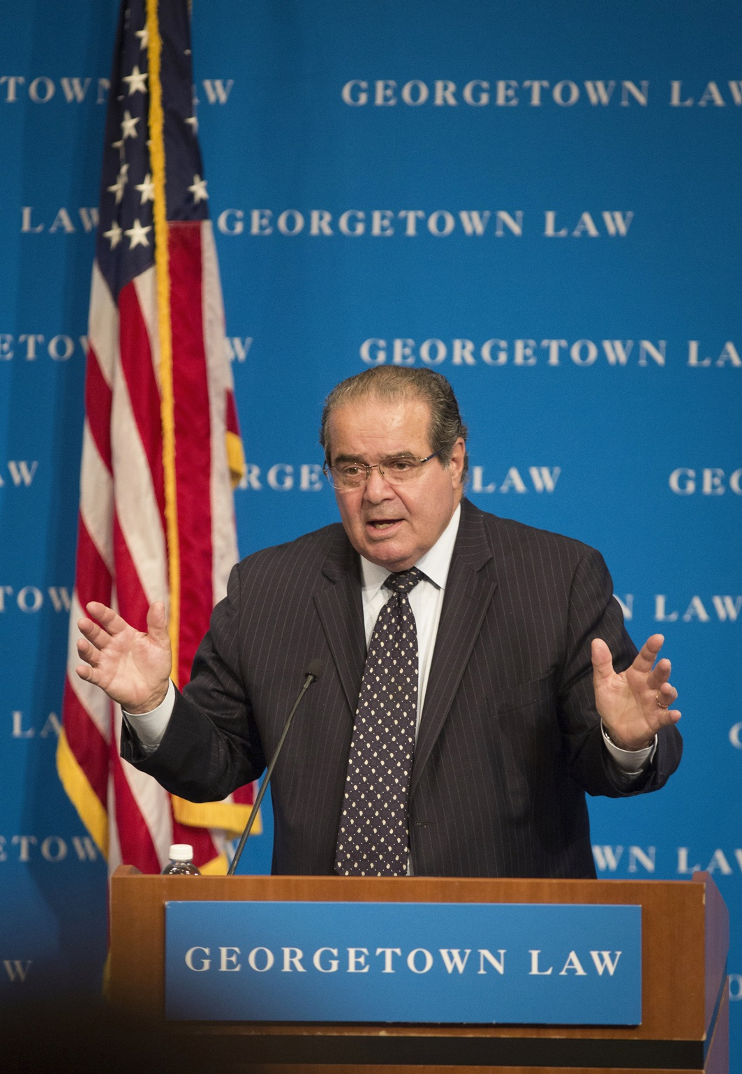 U.S. Supreme Court Justice Antonin Scalia is seen in this Aug. 30, 2013, file photo at Georgetown University Law Center in Washington. (CNS photo/Nancy Phelan Wiechec) See OBIT-SCALIA Feb. 15, 2016.