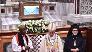 Pope presides