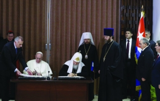 the Pope and the Patriarch Meet