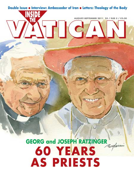 2011 August September Issue of Inside the Vatican magazine