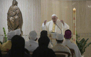 Pope Francis preaches at the morning Mass (Vatican Media)