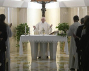 Pope Francis celebrates Mass at Casa Santa Marta (Vatican Media)